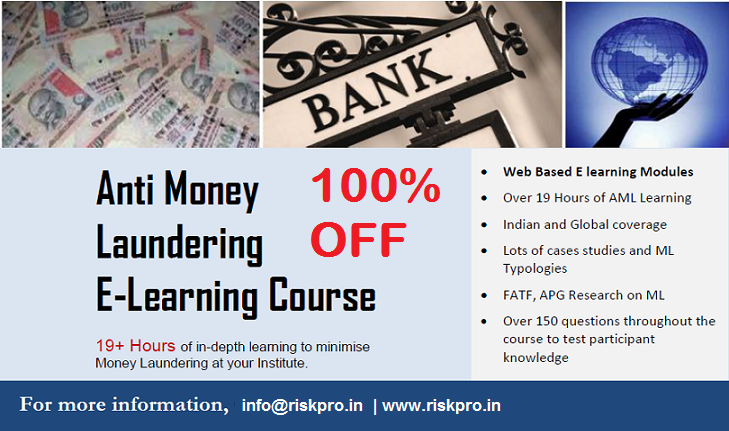 free anti money laundering (aml) course | riskpro india - connect ...